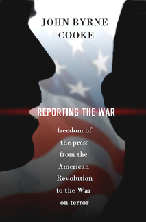 cover illustration for Reporting the War hardcover edition