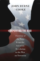 preliminary cover illustration for Reporting The War
