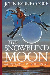 cover illustration for the hardcover edition of The Snowblind Moon